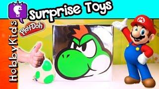 Super BIG Blockhead Yoshi Nintendo + Play Doh Surprise Egg! HobbyKidsTV