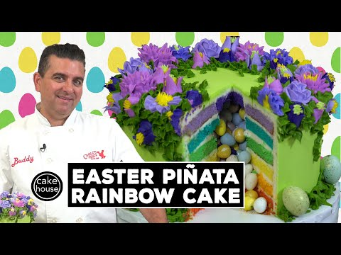 Easter Piata Rainbow Cake by The Cake Boss | Cool Cakes 22
