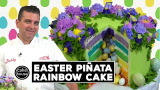 Easter Piñata Rainbow Cake by The Cake Boss | Cool Cakes 22
