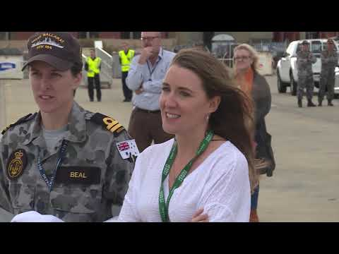 HMAS Ballarat arrives home with rescued solo yachtsman