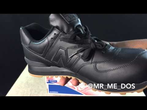 c4cf064a5cc6a New Balance 574 Black Gum Bottom unboxing & review - YouTube
