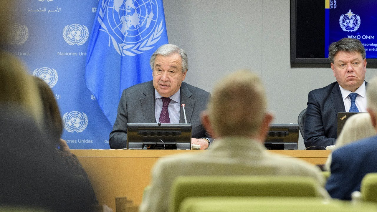 United in Science 2020 report – UN chief and WMO Secretary-General Press Conference | #ClimateAction