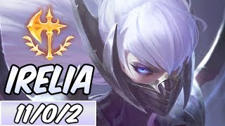 IRELIA MID New Build Runes Diamond Nightblade Irelia League of Legends S9