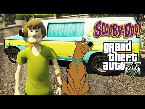 GTA 5 Mods - SCOOBY DOO MOD w/ Shaggy, Ghost Hunting, Mystery Machine (GTA 5 Mods Gameplay)