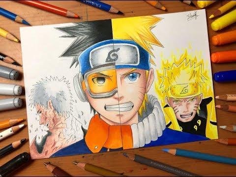 Speed Drawing - Naruto Uzumaki Vs Obito Uchiha (Naruto Shippuden) [HD]