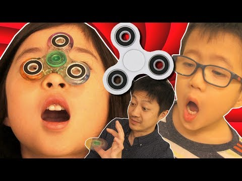 ハンドスピナー で遊んでみた!流行にはのっておけ! 顔でまわせるかな?海外 おもちゃ Fidget Spinner