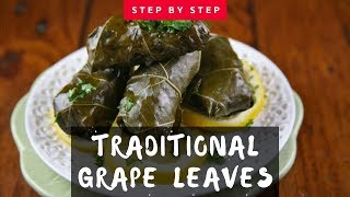 How to Make Grape Leaves - step by step (from the island of Crete)