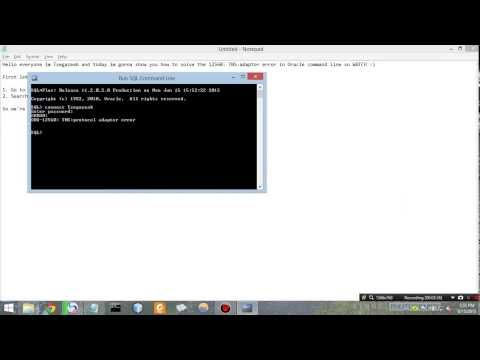 How to solve TNS: protocol adaptor error in oracle