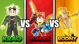 KraoESP vs Xonnek vs RODNY ROBLOX | Batalla de Intros