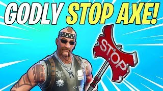 GODLY STOP AXE Melee Weapon Review! The ULTRA Meme Weapon | Fortnite Save The World