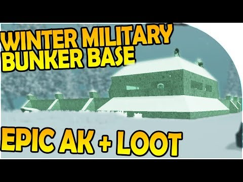 WINTER MILITARY BUNKER BASE + EPIC AK + LOOT - 7 Days to Die Alpha 16 Gameplay Part 18 (Season 2)