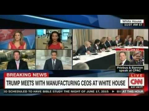 President Trump meets with manufacturing CEOS at the White House part 2