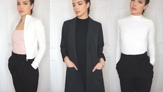 huge clothing haul & try on | clothes for the workplace zara, h&m, f21