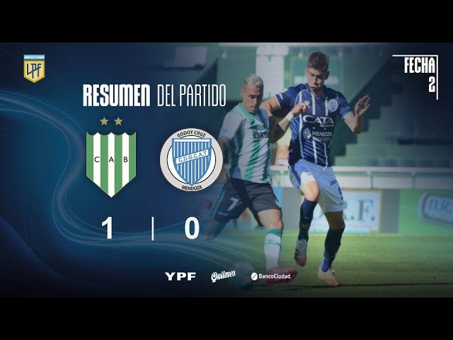 Copa Liga Profesional | Fecha 2 | resumen de Banfield - Godoy Cruz