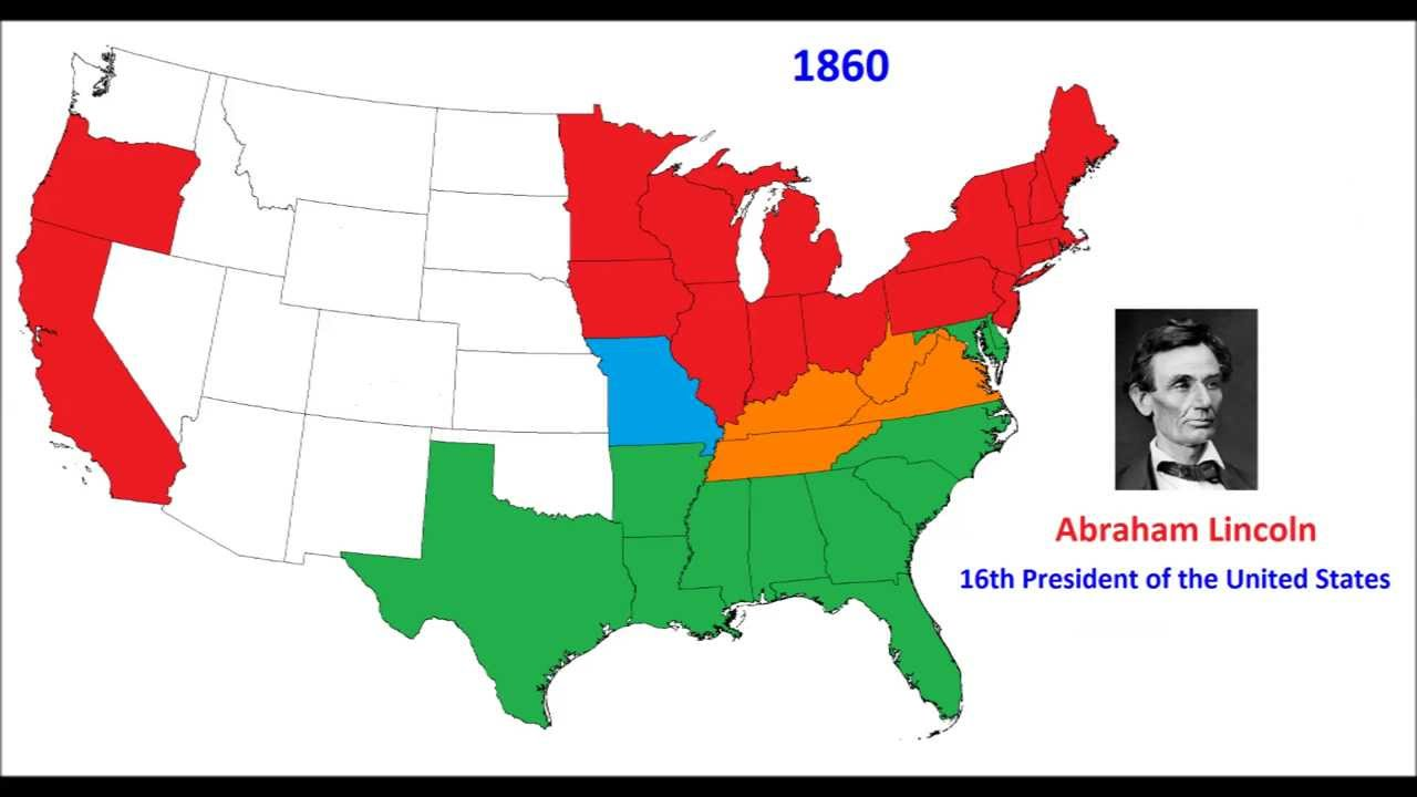 1860 Presidential Elections Electoral Map - YouTube