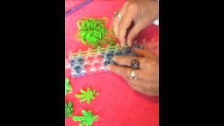 Loom band cannabis leaf