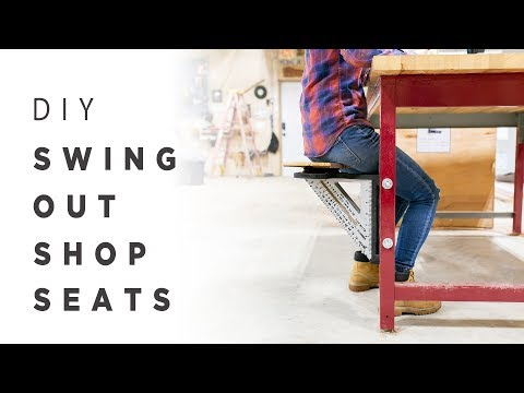 Building Swing Out Stools + Three Legged Stools
