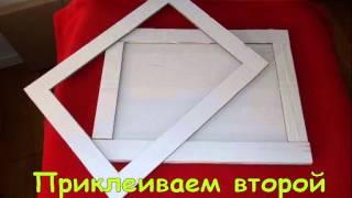 Рамки с картона, Frame with cardboard, hand made, рамки своими руками.(В этом видео детально описывается как можно сделать рамки для картин с картона, очень дешево и очень сердит..., 2014-07-31T20:09:38.000Z)