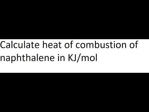 enthalpy of formation of naphthalene