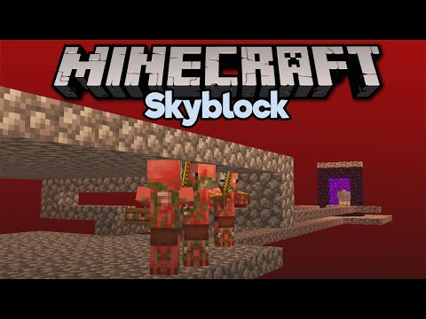 Going to the Nether in Skyblock! ▫ Minecraft 1.15 Skyblock (Tutorial Let's Play) [Part 5] thumbnail