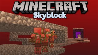 Going to the Nether in Skyblock! ▫ Minecraft 1.15 Skyblock (Tutorial Let's Play) [Part 5]