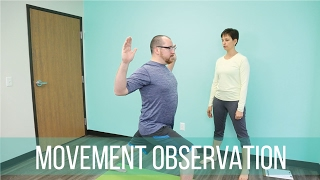 Movement observation in a yoga session