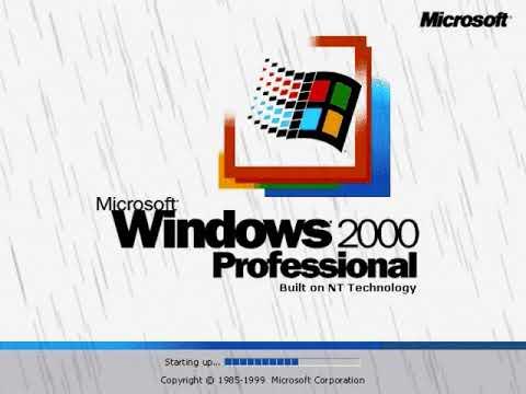 Microsoft Windows 2000 Startup Sound Rain Sound Effect