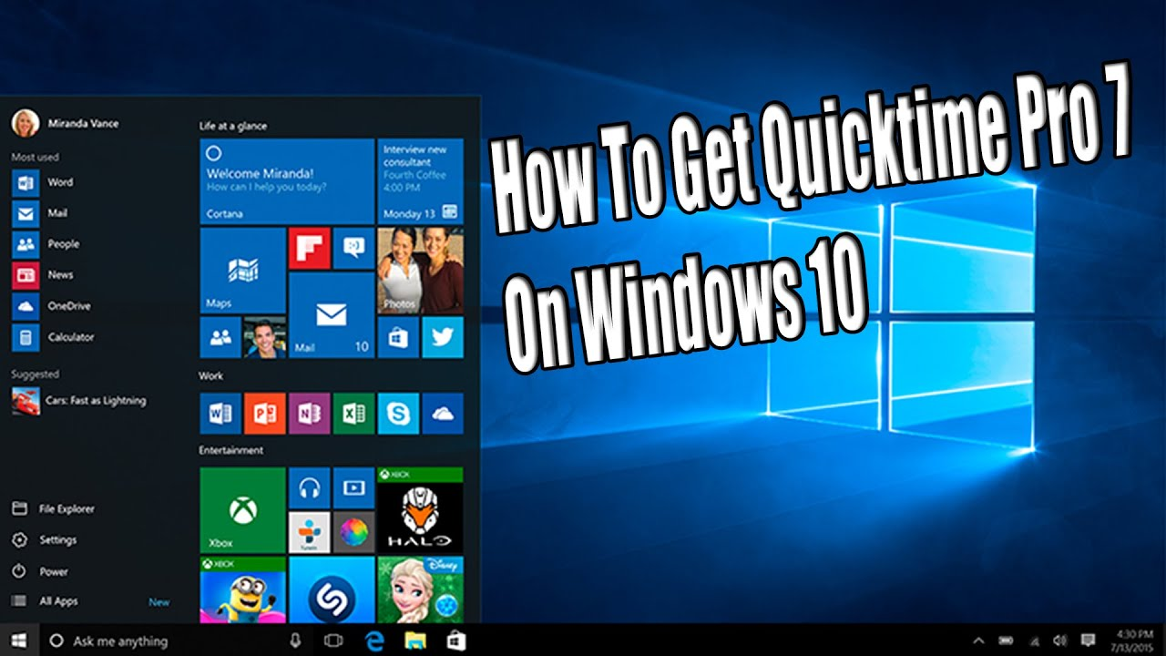 How to Download and install QuickTime 7 on Windows 10 *EASY* - YouTube