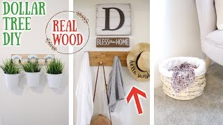 3 DOLLAR TREE DIYS USING REAL WOOD! 25 APRIL 2019