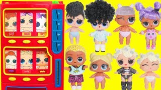 LOL Surprise Dolls Vending Machine with Lils Fuzzy Pets | Toy Egg Videos