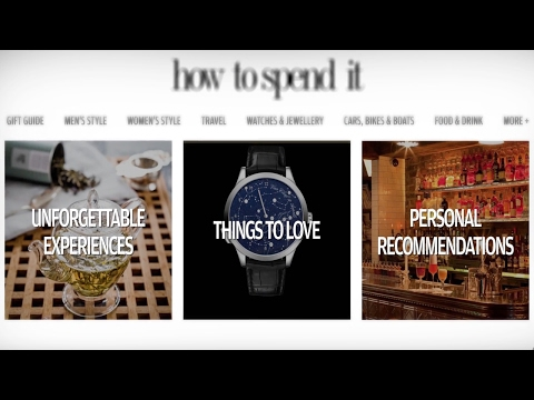 How to Spend It - Relaunch
