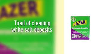 Lazer Descaler - To remove white scale deposits from Washing Machine & Bahroom Faucets