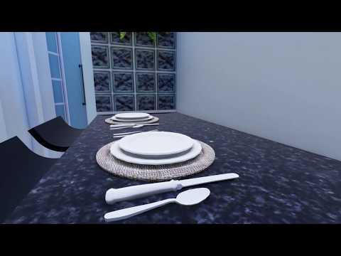 Maquete 3D - Cozinha e Banheiro - Nova Friburgo - RJ