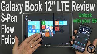 Samsung Galaxy Book 12 LTE Review (Samsung Flow, Folio case,S-pen) #verizon