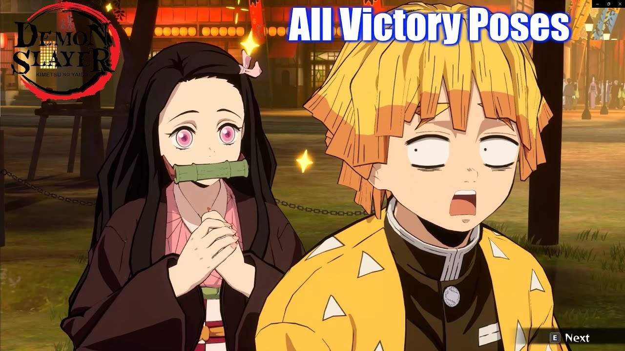 Demon Slayer All Characters Victory Poses - Kimetsu No Yaiba The Hinokami Chronicles