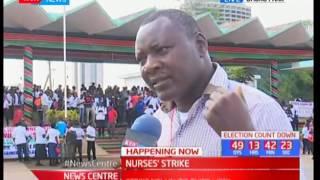 Striking nurses hold demonstrations in Nairobi
