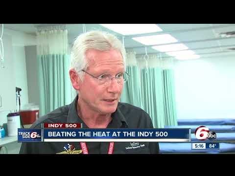 Beating the heat at the Indianapolis 500