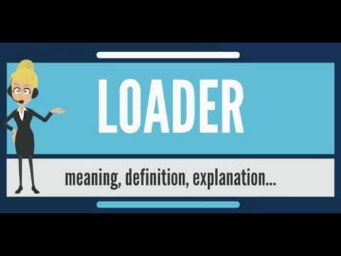 What is LOADER? What does LOADER mean? LOADER meaning, definition, explanation & pronunciation