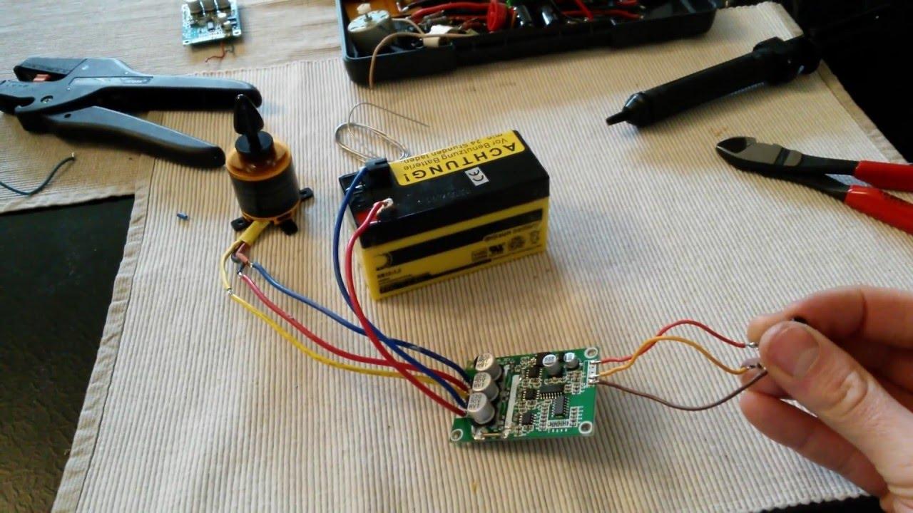 12 36v Brushless Motor Controller Board Test Youtube