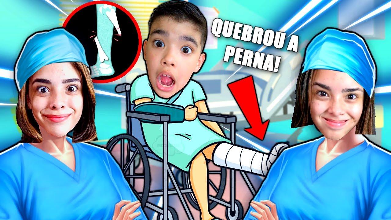 O MENINO QUEBROU A PERNA E FOI PARAR NO HOSPITAL!! (Jogos de Médico)