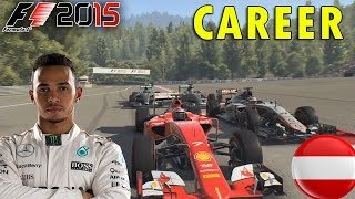 F1 2015 Career Mode | Lewis Hamilton: Austrian GP (Hammer Time)