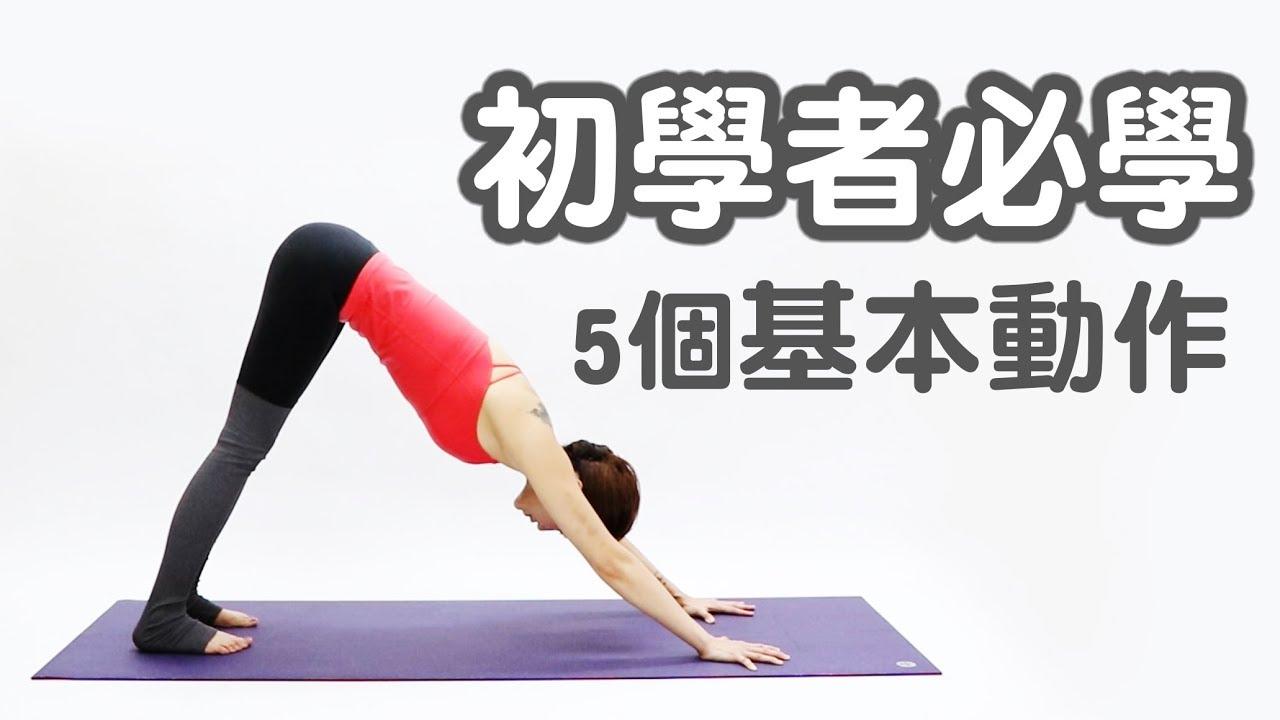 初學瑜伽必學五個動作|Vicky老師|YogaAsia 亞洲瑜伽 - YouTube