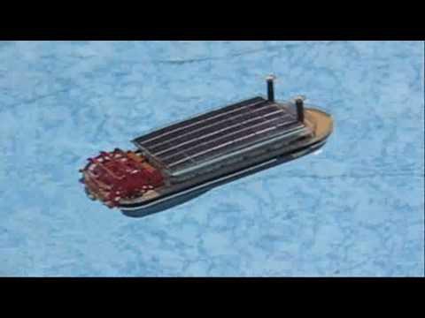 Solar Powered Model Paddle Boat Youtube