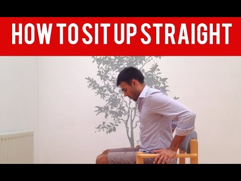 How to sit up straight easily using the right muscles