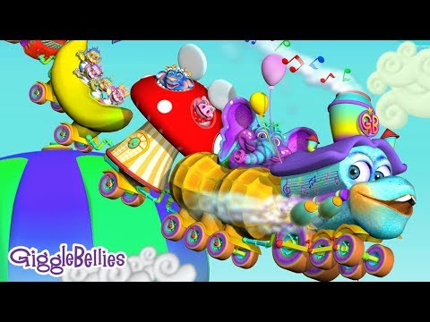 GiggleBelly Train Song – Trains For Kids & More Nursery Rhymes