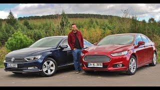 Karşılaştırma - Ford Mondeo vs VW Passat(VW Passat ve Ford Mondeo yeni halleriyle Otomobil Dünyam'da karşılaştı. Bu karşılaştırmaya Passat 1.6 dizel manuel şanzımanı ile katılırken, Mondeo 1.5 ..., 2015-11-07T07:35:44.000Z)