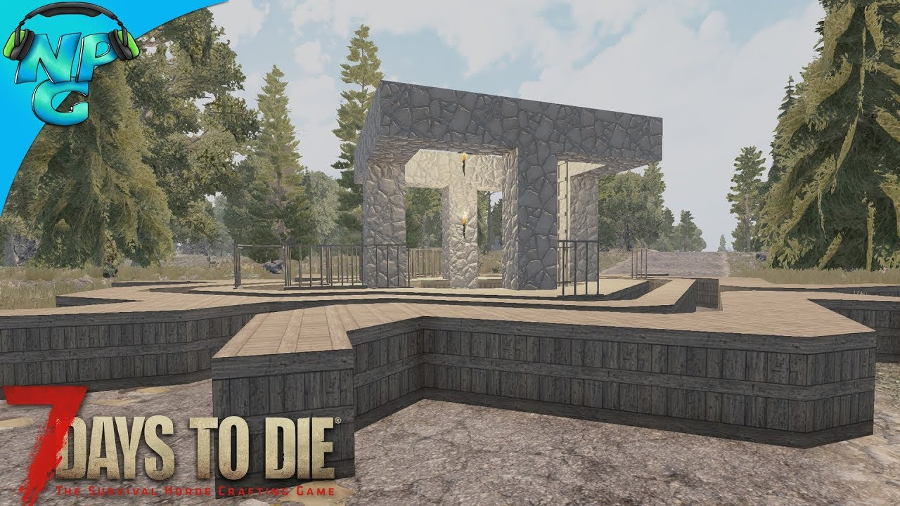 Best Blood Moon Defense Base In 7 Days To Die Alpha 17 Easy Build E6 Youtube