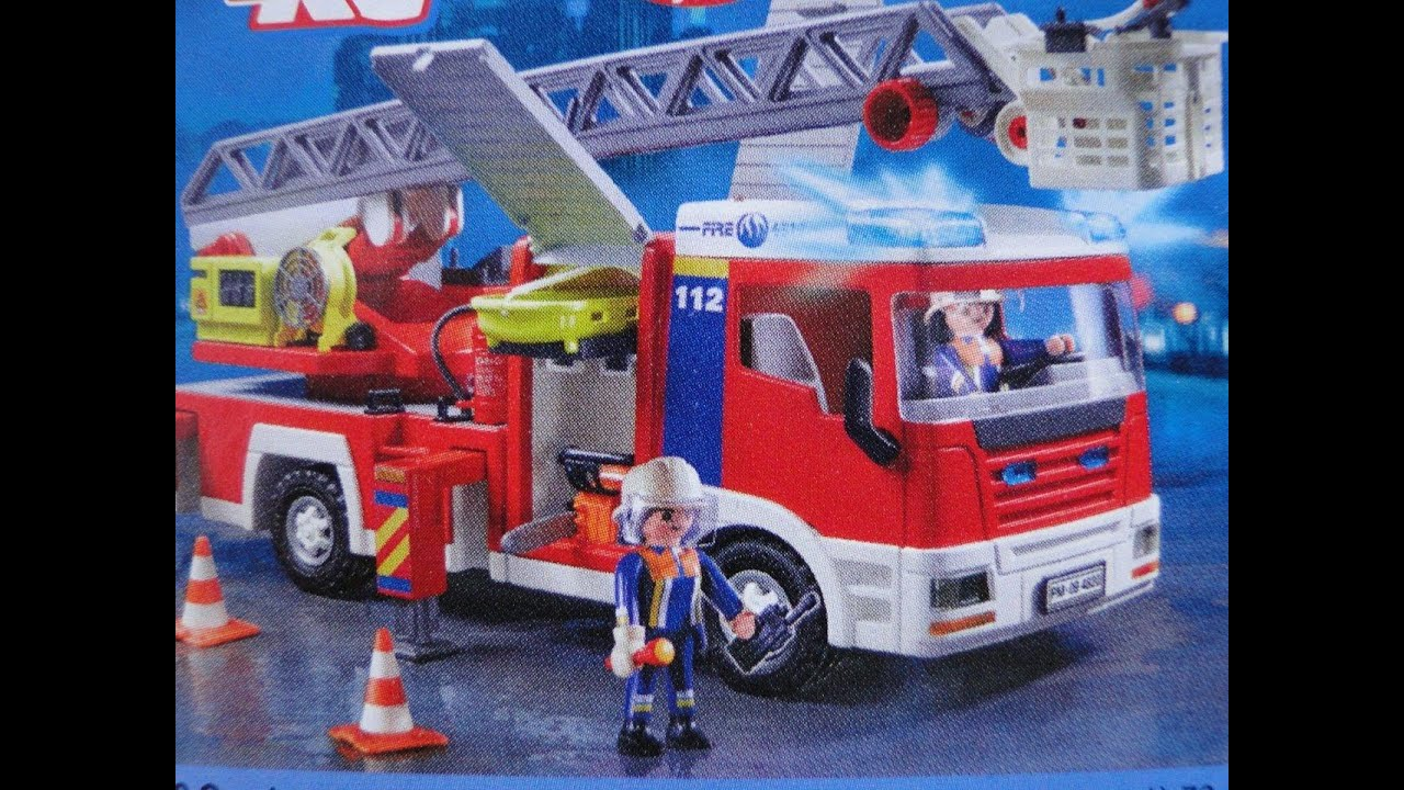 Playmobil ladder unit camion pompier 4820 youtube - Playmobil camion ...