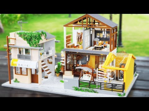 DIY Miniature Dollhouse Kit || A Beautiful Day In Tokyo ( The Biggest Ever )