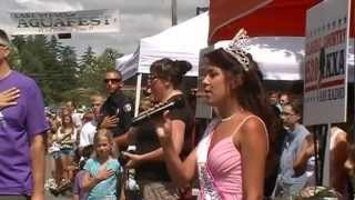 Miss Aliyah 2012 Aquafest National Anthem